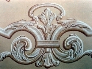 Painting Restoration made decorations lime